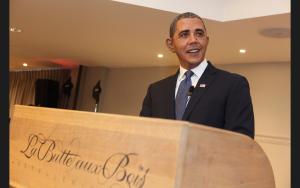 Barack Obama DOuble Lookalike-1 gr. Bild